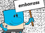 Формы глагола embarrass